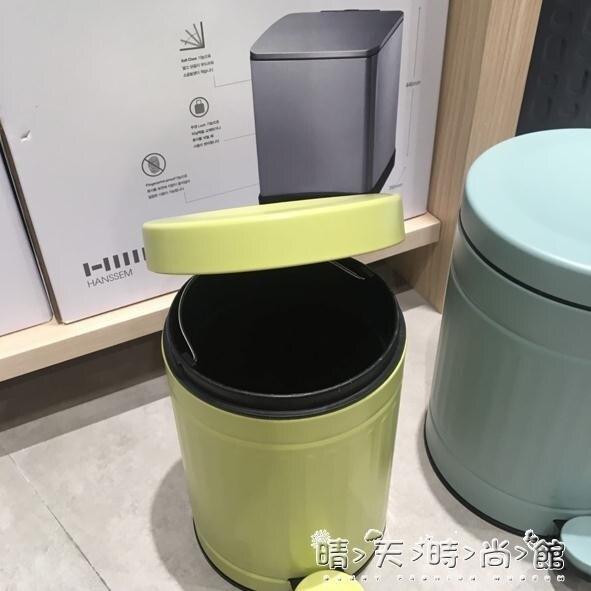 韓國漢森專柜 歐式靜音緩降豎條紋腳踏式雙層不銹鋼垃圾桶  聖誕節狂歡購