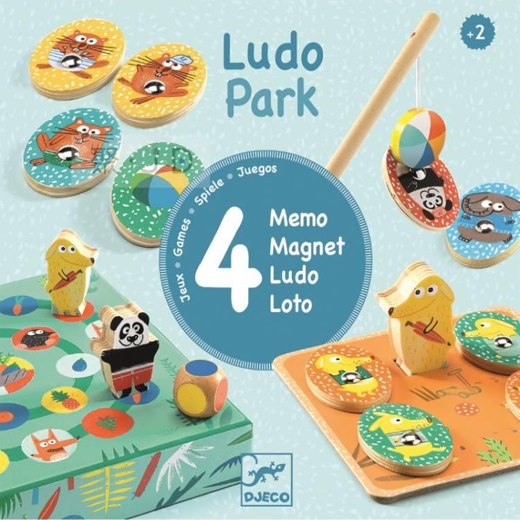 【DJECO 智荷】DJ01698 益智桌遊 - 四合一遊戲盒。公園好好玩 LudoPark (4 games)