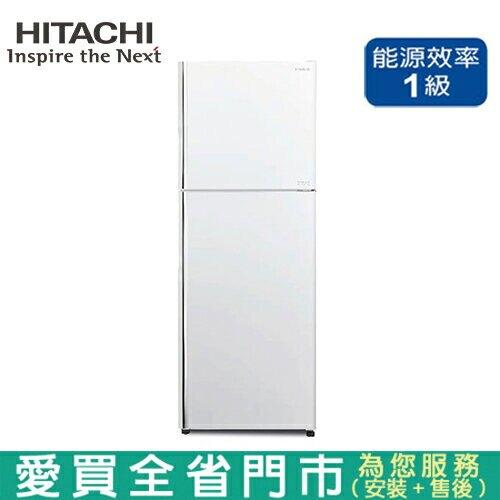 HITACHI日立403L雙門變頻冰箱RV409-PWH含配送+安裝【愛買】