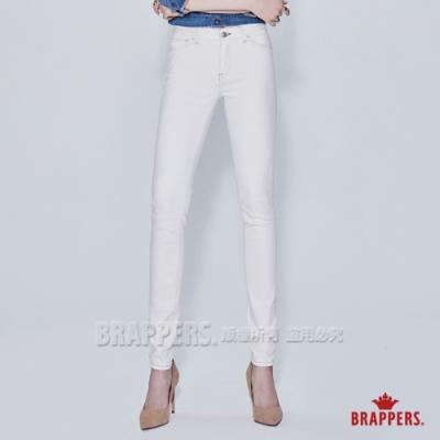 BRAPPERS 女款 新美腳鬆緊帶系列-低腰彈性窄管褲-象牙白