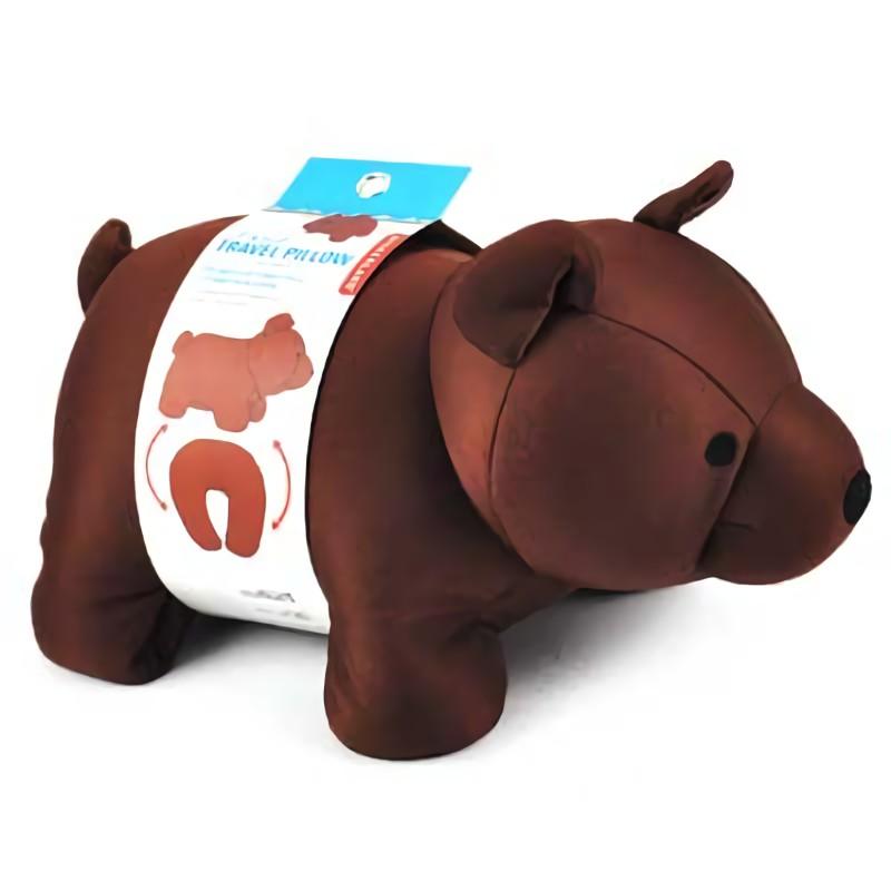 KIKKERLAND Zip & Flip Travel Pillow枕頭/ Brown 誠品eslite