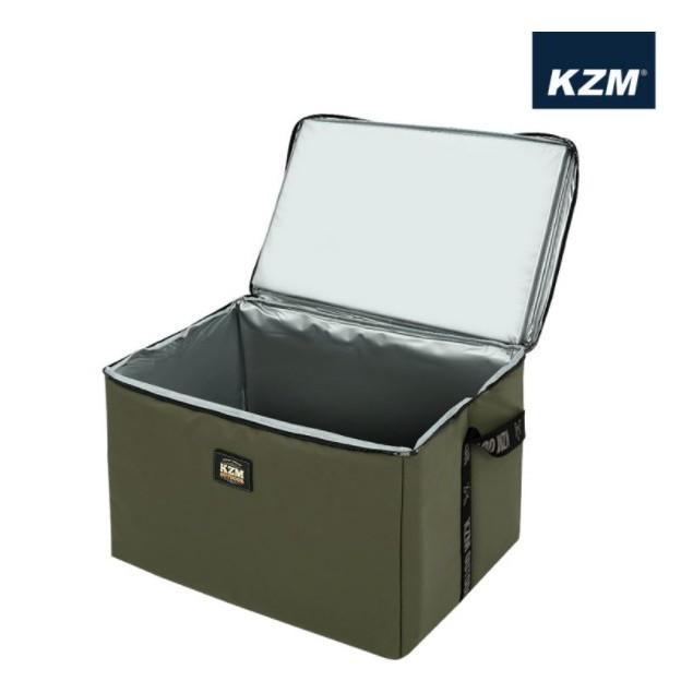 KAZMI KZM 素面個性保冷袋45L(軍綠色) 保溫袋 保冰袋 保冷袋 保鮮 野餐 戶外 便當袋 【露戰隊】