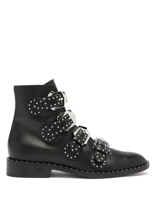 Givenchy - Elegant Studded Leather Ankle Boots - Womens - Black