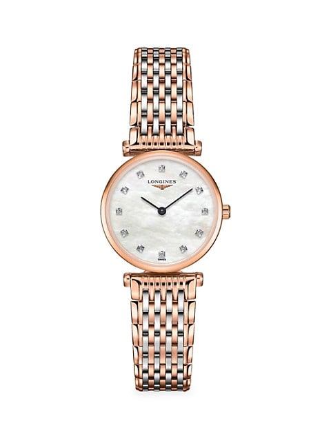 La Grande Classique Two-Tone & Diamond Bracelet Watch