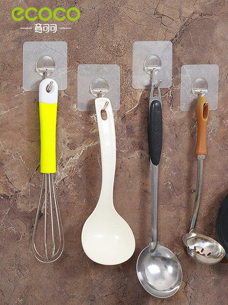 掛鉤強力粘膠廚房無痕吸盤墻壁壁掛粘鉤浴室承重免1入