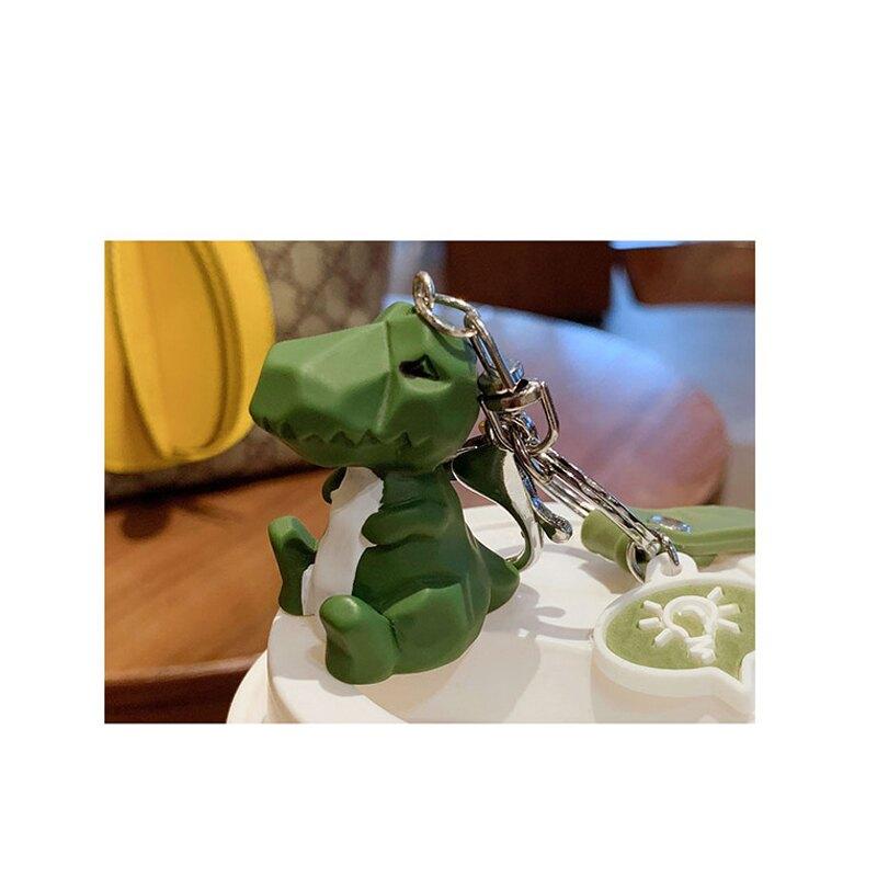 現貨韓版恐龍動物3D立體鑰匙圈 幾何切面 可愛風 卡通公仔 INS網紅潮流 包包掛件掛飾 立體鑰匙環樹脂鑰匙扣 情侶搭配