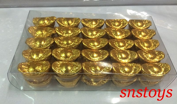 sns 古早味 金元寶 巧克力 元寶巧克力 小元寶巧克力 50粒 寬高 2.5x1.5公分