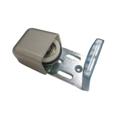 鞋型下導輪 止擺器 吊軌限位器 限位器 定位器 可調地輪 自動門導輪 吊門下檔塊 玻璃推拉門 下檔塊 外包擋