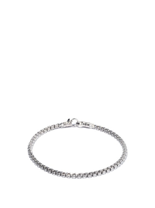 Tom Wood - Double-link Box-chain Sterling-silver Bracelet - Mens - Silver