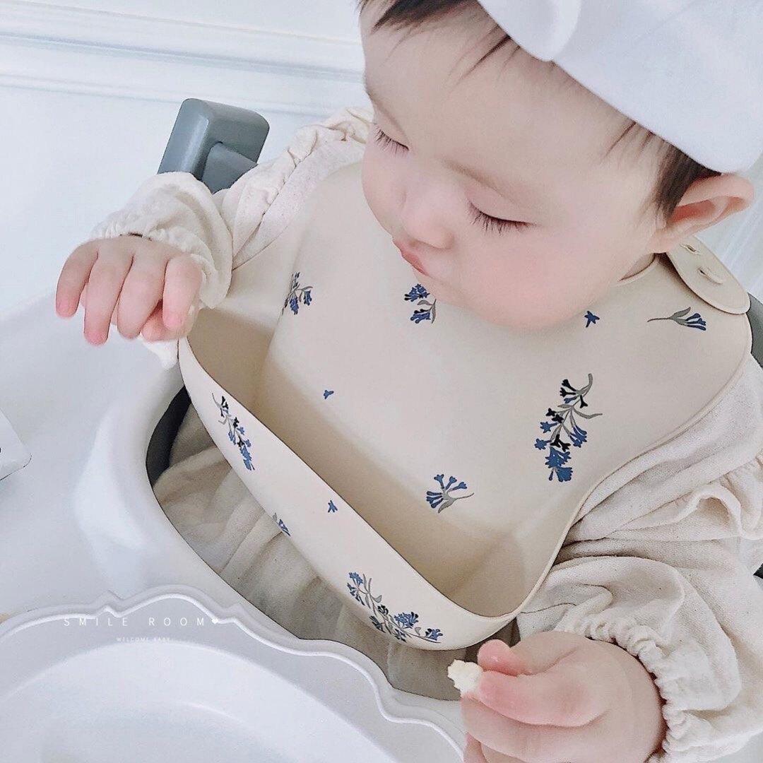 飯兜 ins韓國兒童圍嘴防水飯兜兒童硅膠超軟口水兜免洗兒童吃飯圍兜【DD30511】