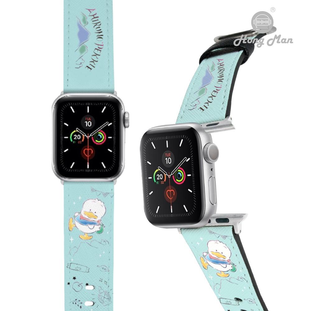 預購 【Hong Man】三麗鷗 系列 Apple Watch 皮革錶帶 旅行 貝克鴨