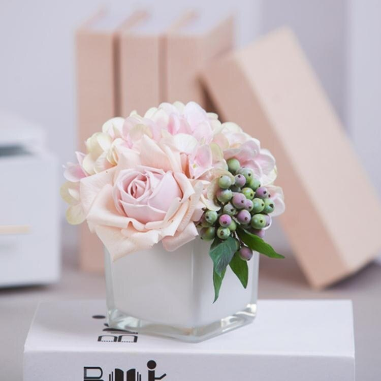 假花裝飾客廳小清新花束塑料花盆栽茶幾擺件室內房間擺設會議桌花  聖誕節狂歡購