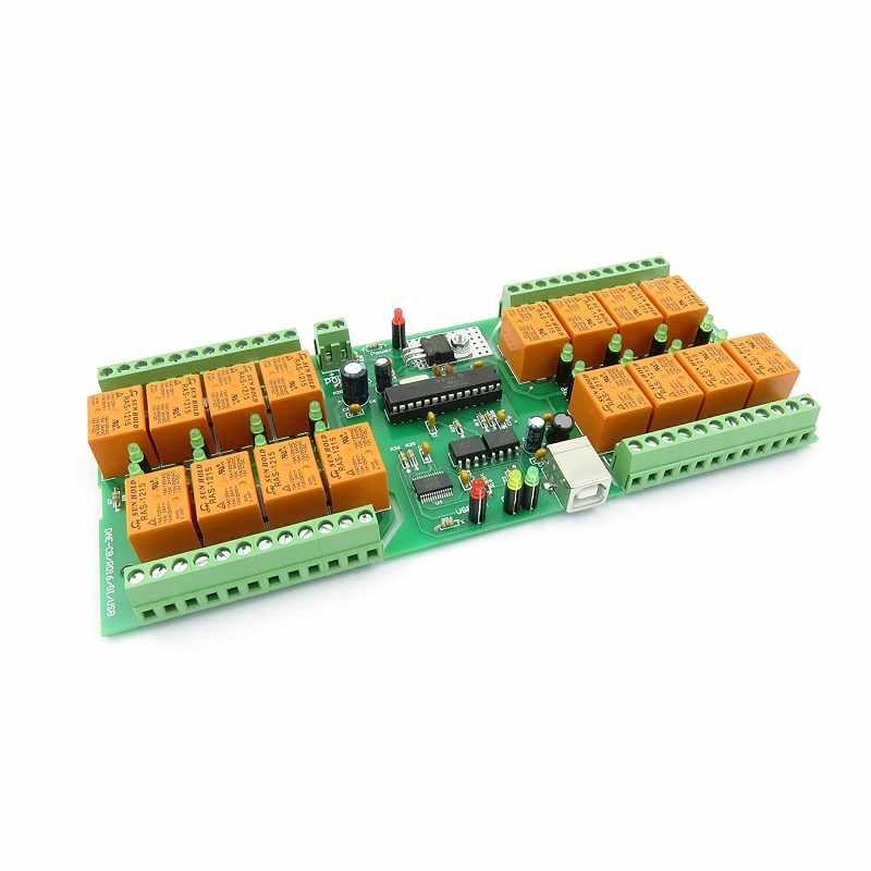 Denkovi USB 16 Channel 自動化繼電器板 12VDC Relay Board for Automation [2美國直購]