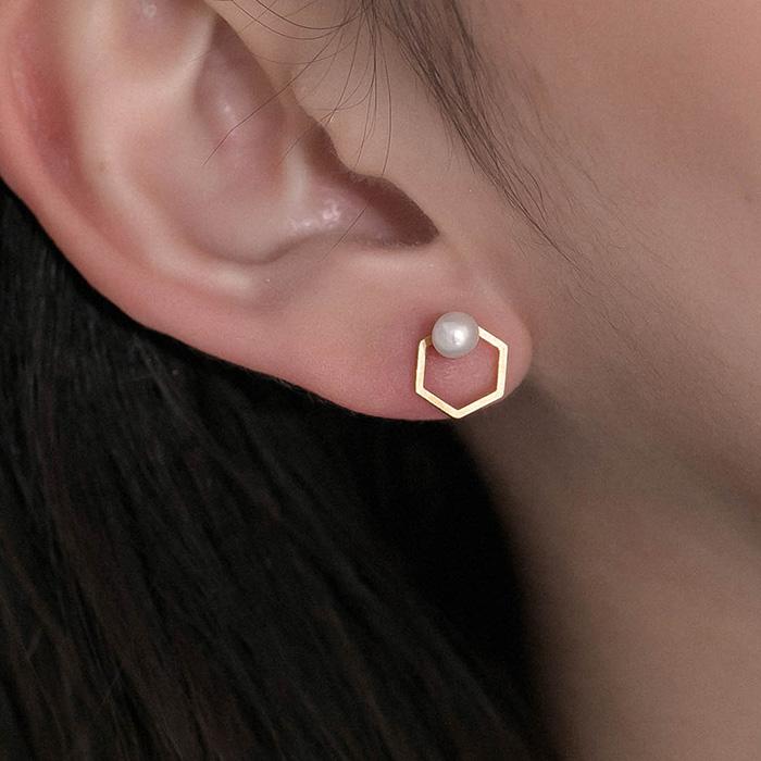 串珠.單支耳環