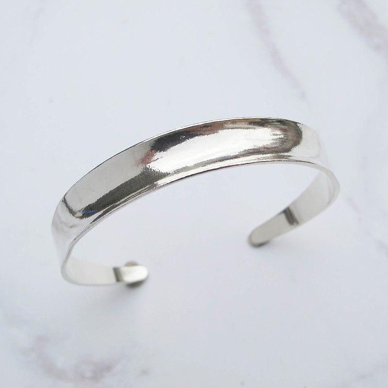 大員囡仔【DIY手工銀飾教學】凹面極簡 純銀手環