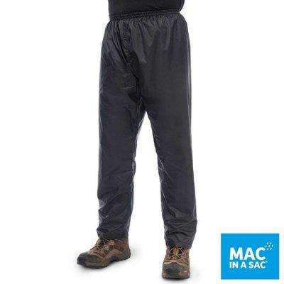 (登山屋)MAC IN A SAC男女款輕巧袋著走防水透氣輕量長褲MNS093黑