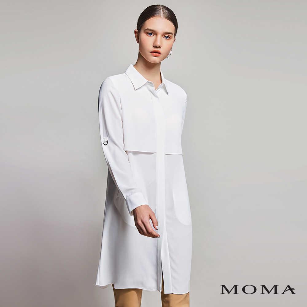 MOMA(01B005)透視長版襯衫