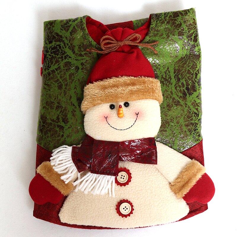 聖誕節裝飾聖誕樹裙立體圍裙布藝老人公仔裝扮用攝影場地掛件擺飾 免運
