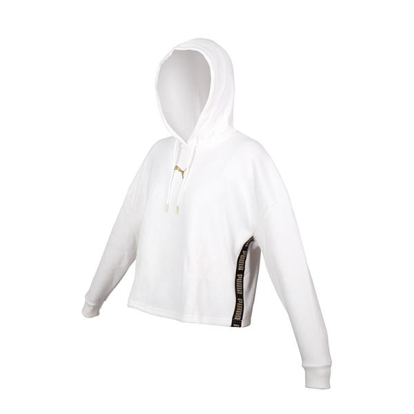 PUMA 女長厚連帽T恤(歐規 帽T 刷毛 保暖 休閒 上衣 免運 ≡排汗專家≡