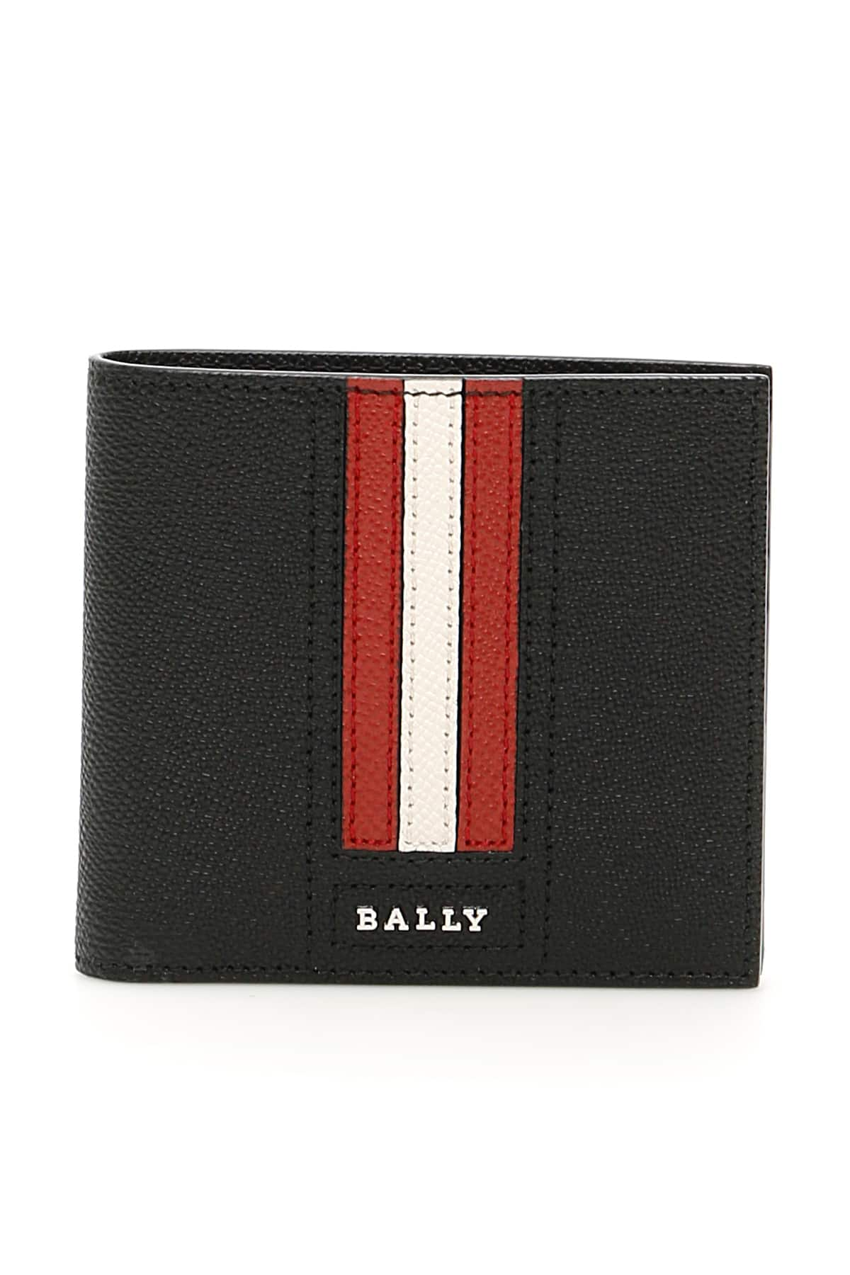 BALLY TRASAI BI-FOLD WALLET OS Black, Red, White Leather