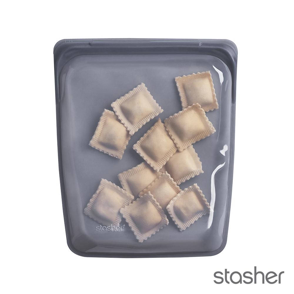 美國Stasher 白金矽膠密封袋-大長形成熟黑 773STHG07