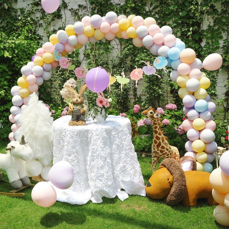 氣球拱門 結婚氣球生日拱門婚慶裝飾新婚門口支架婚禮場景布置馬卡龍氣球門【MJ3717】