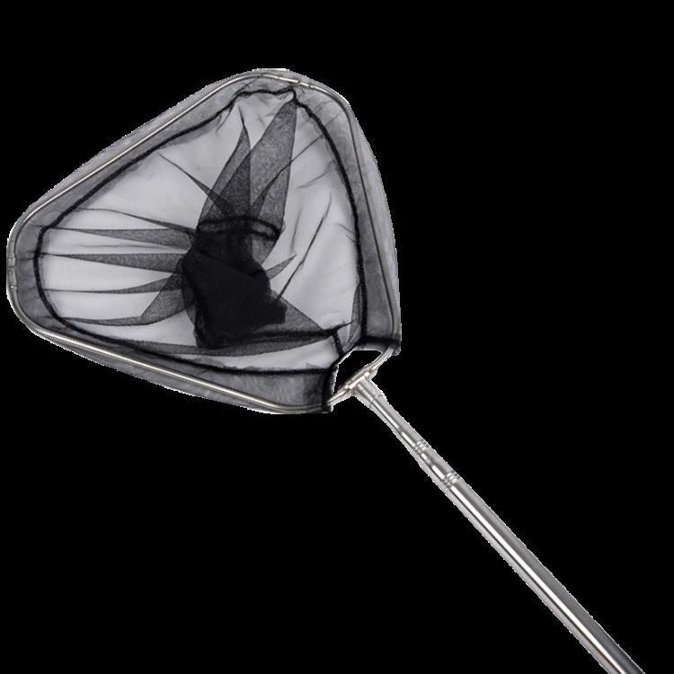 撈魚網兜 不銹鋼釣魚抄網 伸縮定位抄網桿 三角折疊抄網頭網兜競技抄網漁具
