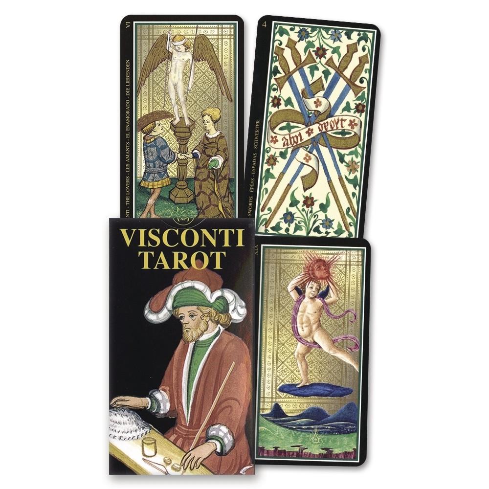維斯康提塔羅牌迷你版 Visconti Tarot Mini Tarot|聖甲蟲牌卡【左西購物網】