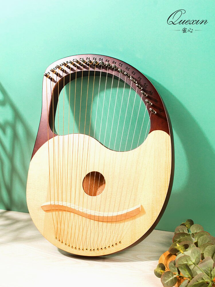 萊雅琴 小豎琴19弦箜篌初學者小型里拉琴小眾樂器便攜式易學lyre琴【MJ3682】