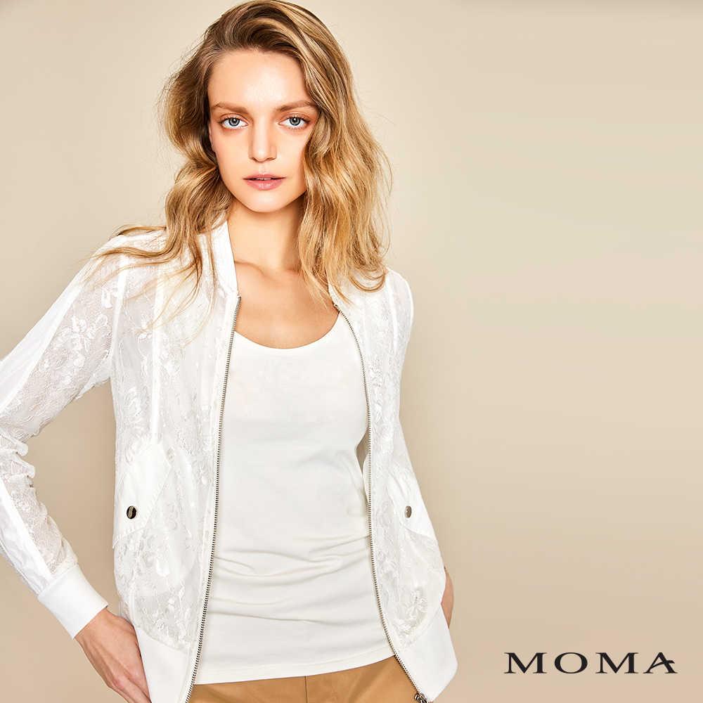 MOMA(01J007)蕾絲透膚外套