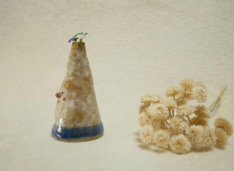 耶誕小樹陶花瓶 藍色海洋