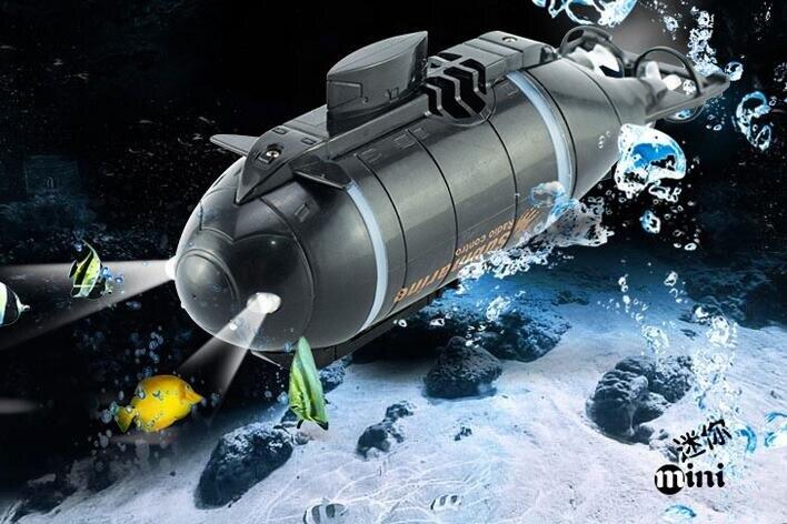 遙控船 四六通道迷你無線遙控潛水艇玩具模型充電船魚缸逗魚玩水氣墊賽艇 限時折扣
