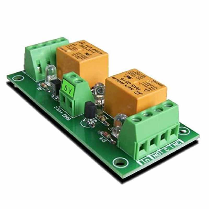 Denkovi 2 Channel 10A Relay Board 5VDC for Your Arduino or Raspberry PI, PIC, AVR, ARM [2美國直購]