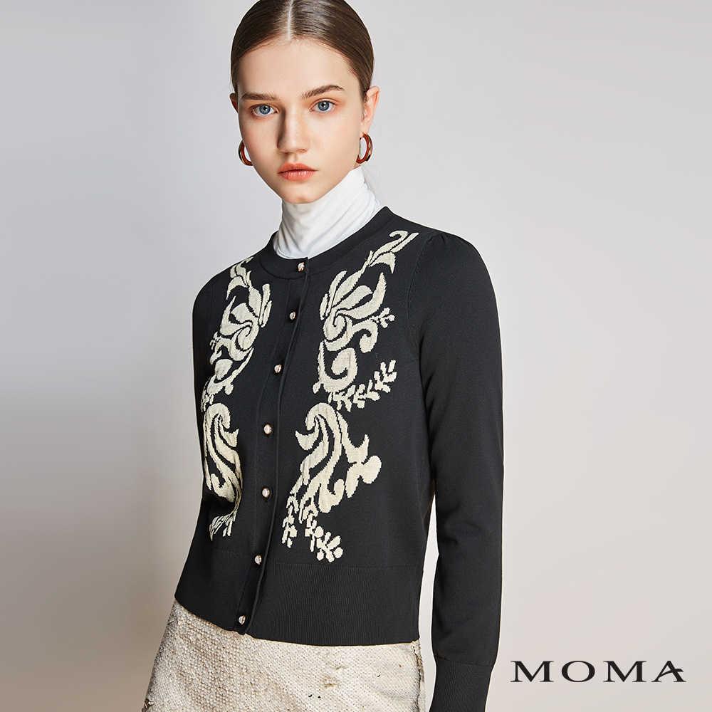 MOMA(01KJ19)蕾絲圖紋珍珠外套