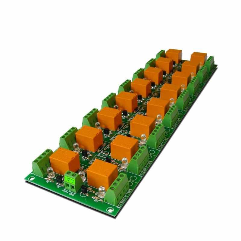 Denkovi 16 Channel 繼電器板/卡 12V Relay Board/Card Arduino or Raspberry PI PIC AVR ARM [2美國直購]