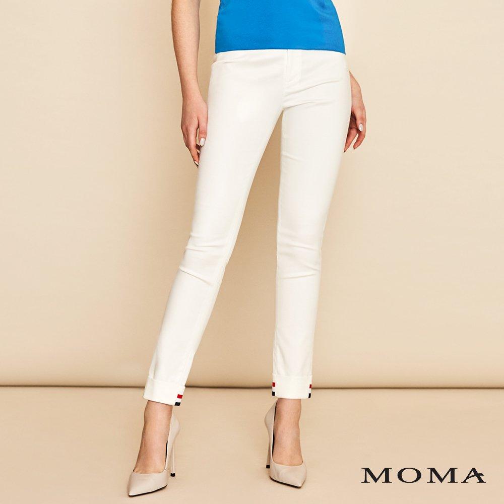 MOMA(01P049)海軍織帶九分褲