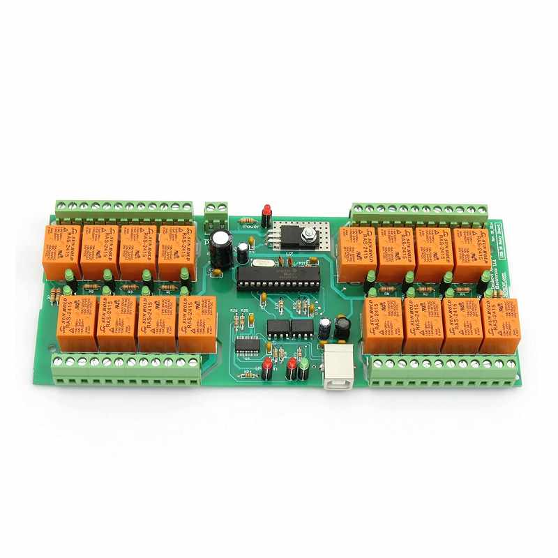 Denkovi 中繼板 24VDC 16 Relay Board ModBus RTU Timers PCB [2美國直購]