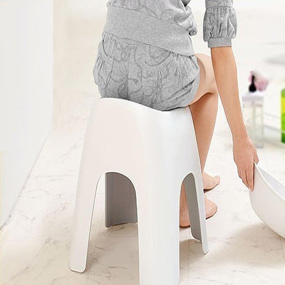 日本ASVEL沐浴專用40公分安全坐椅(白色)