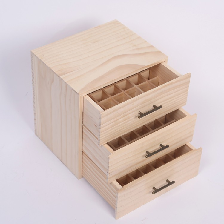 三層抽屜精油木盒子多特瑞精油收納實木盒高檔精油包裝盒木箱 雙12購物節