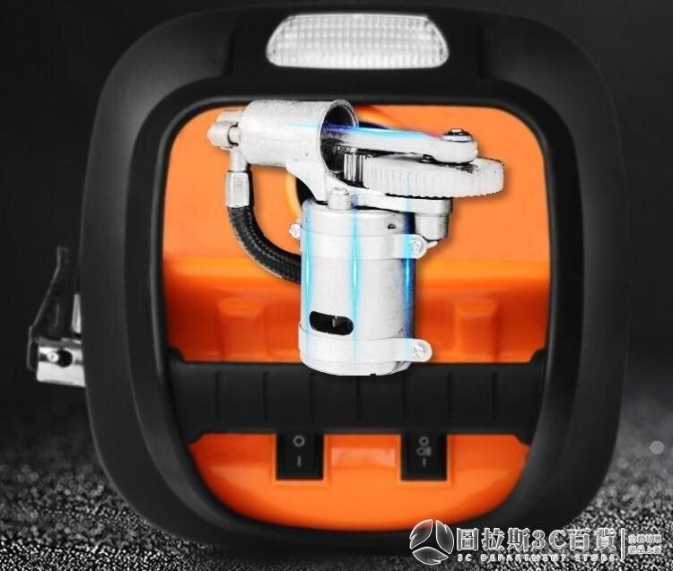 充氣泵 車載充氣泵汽車打氣泵多功能小轎車12V便攜式電動輪胎車用打氣筒 圖拉斯3C百貨 8號時光