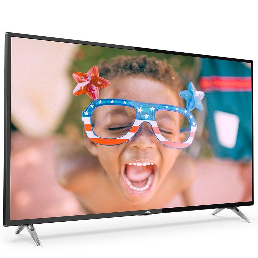 ★登錄送好禮+送安裝★美國AOC 50吋4K HDR液晶顯示器+視訊盒50U6205