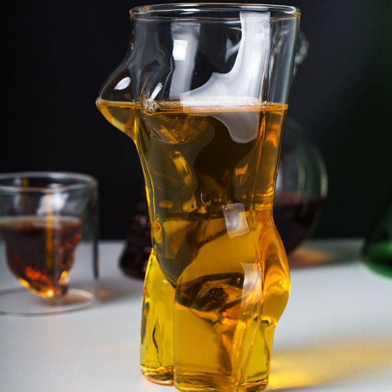 【玻璃杯】創意性感美女造型耐熱杯裸女玻璃杯美女紅酒杯威士忌酒杯【聖誕禮物】