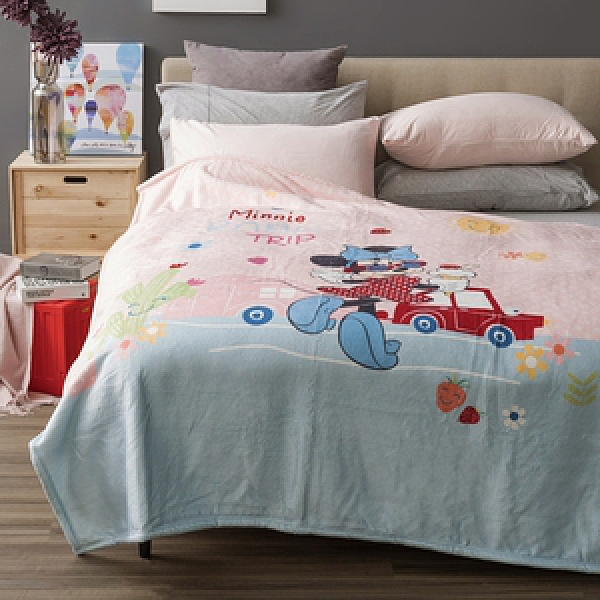 HOLA 迪士尼系列 法蘭絨收納毯 米妮款 單人尺寸 Minnie