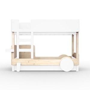 比利時 Mathy by Bols 探索雙層兒童床 90x190-白色