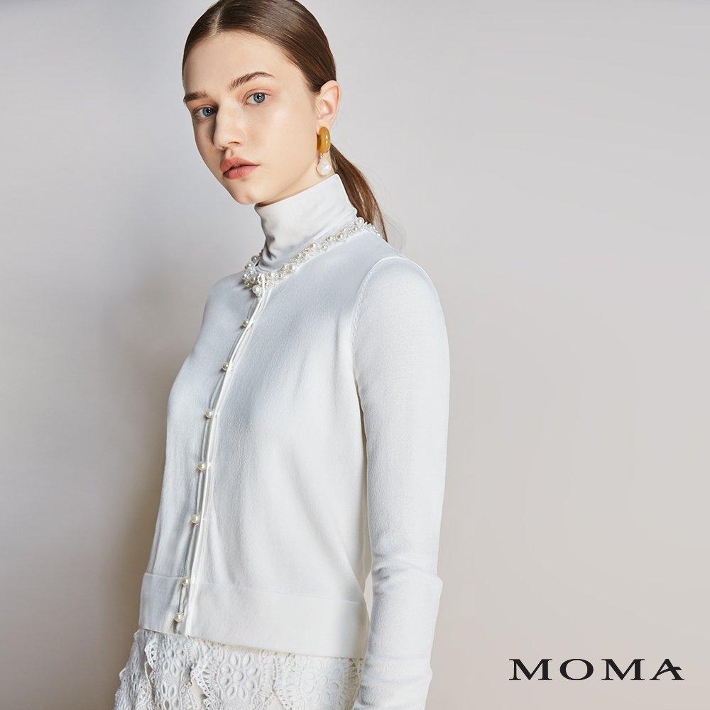 MOMA(01KJ01)珍珠縫飾外套