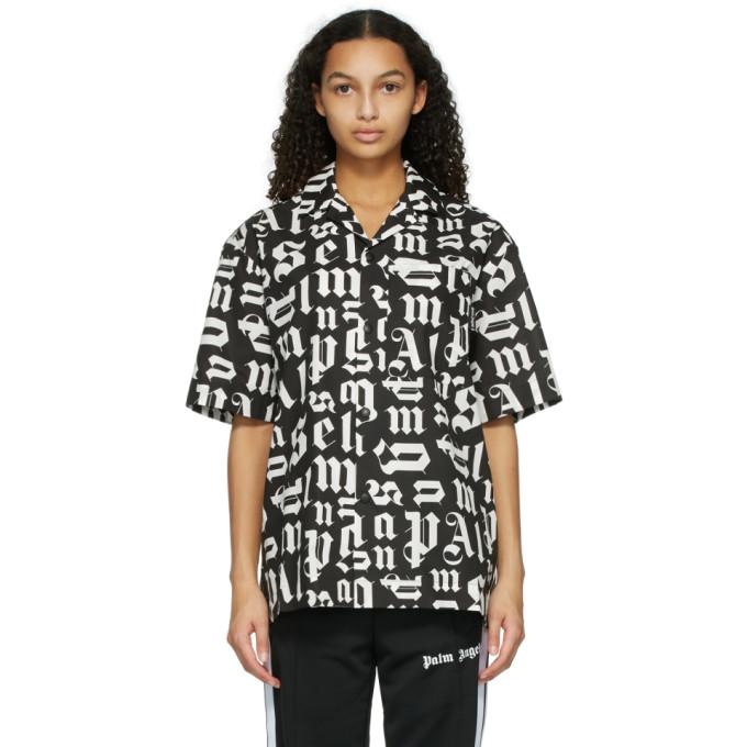 Palm Angels 黑色 and 白色保龄球衬衫