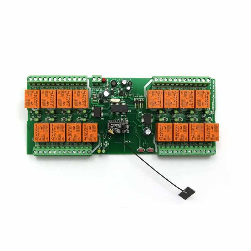 Denkovi Wi-Fi 16 Relay Board PCB 12VDC - ModBus TCP/UDP, Wi-Fi 802.11 Interface [2美國直購]