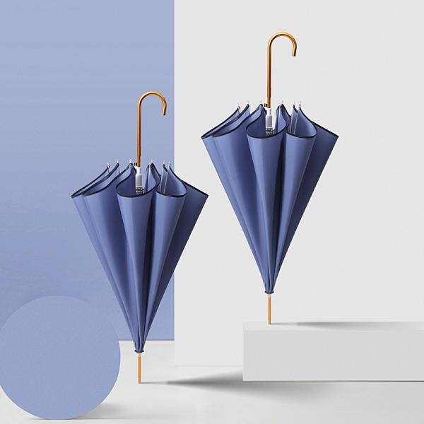 純色小清新輕便長柄晴雨傘