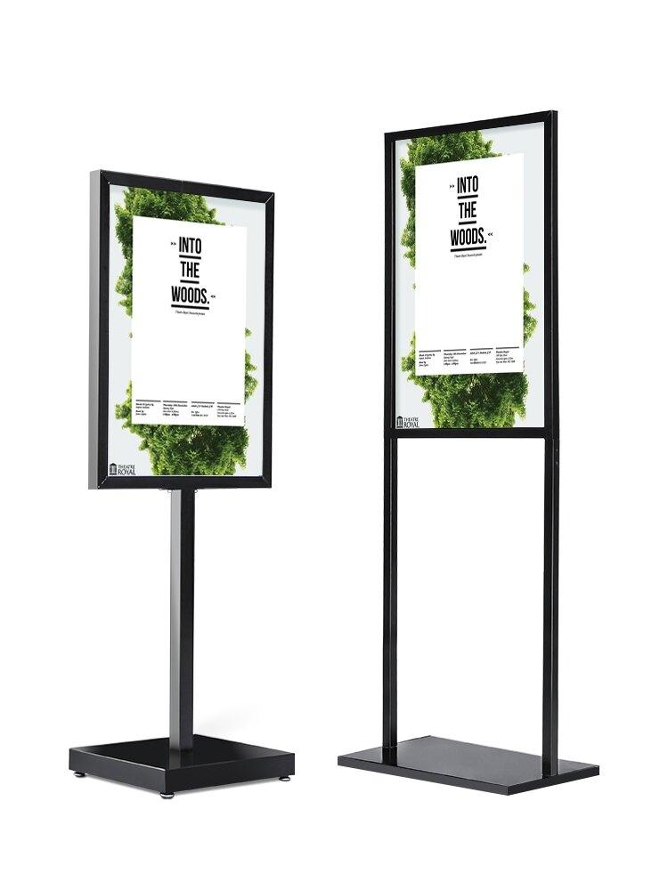 海報架 廣告牌展示牌kt板展架立式落地式展示架立牌海報架子定制指示水牌『CM397532』