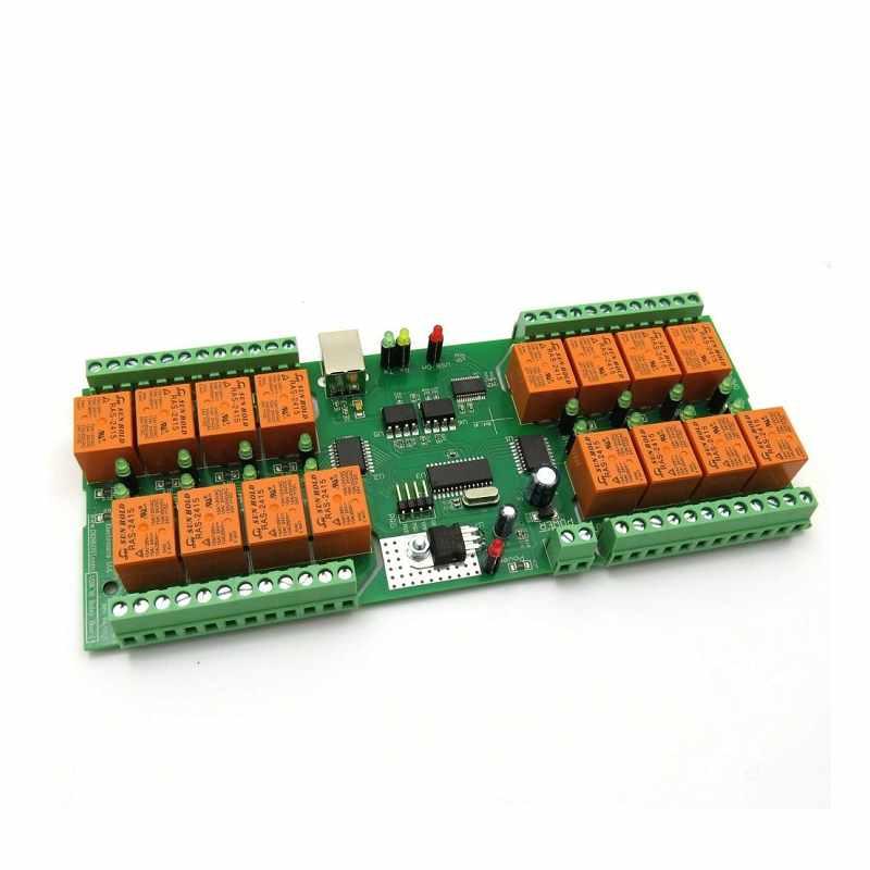 Denkovi 中繼板 12VDC 16 Relay Board ModBus RTU Timers PCB [2美國直購]